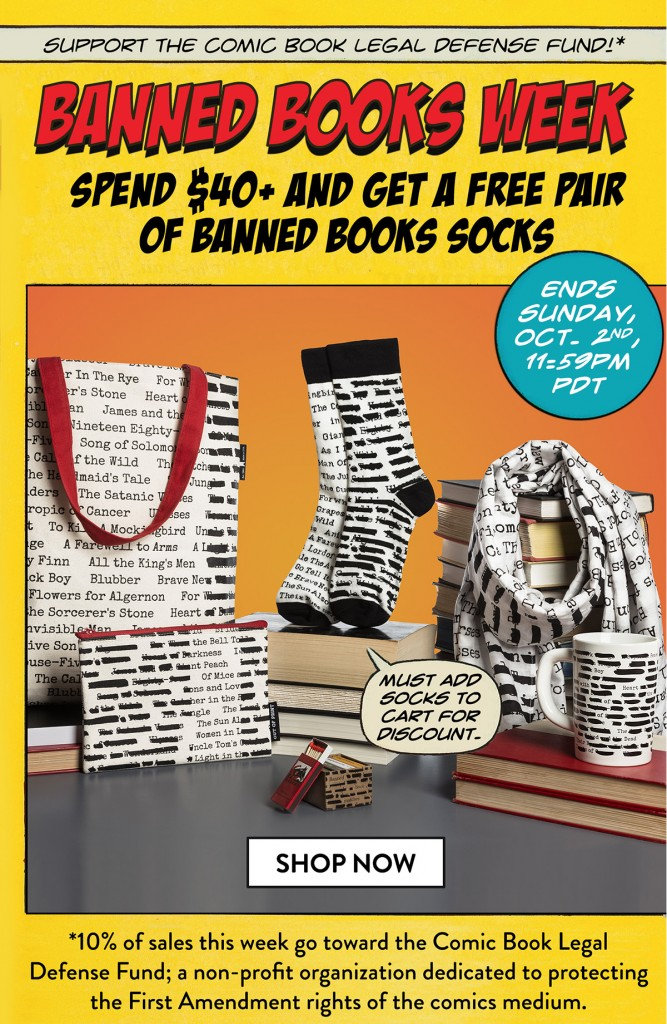 Out of Print Supports CBLDF During Banned Books Week!