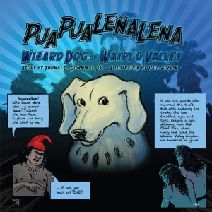 "From ""Puapualenalena Wizard Dog of Waipi'o Valley,"" retold by Thomas C. Cummings, Jr. Art by Paul Zdepski."