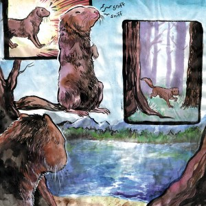"From ""The Wolf and the Mink,"" retold by Elaine Grinnell. Art by Michelle Silva."