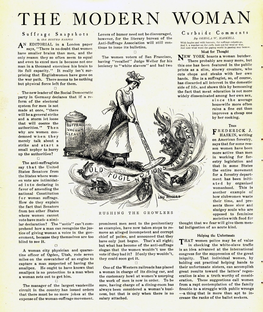 """Modern Woman"" column from the October 23, 1913, issue of Judge"