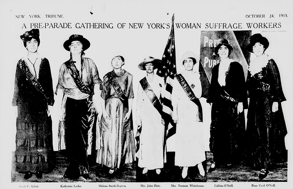 Rose-O'Neill-Suffrage-Pre-Parade-Gathering-October-24,-1915
