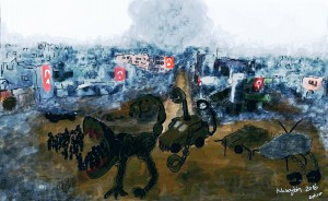 Zehra Doğan painting