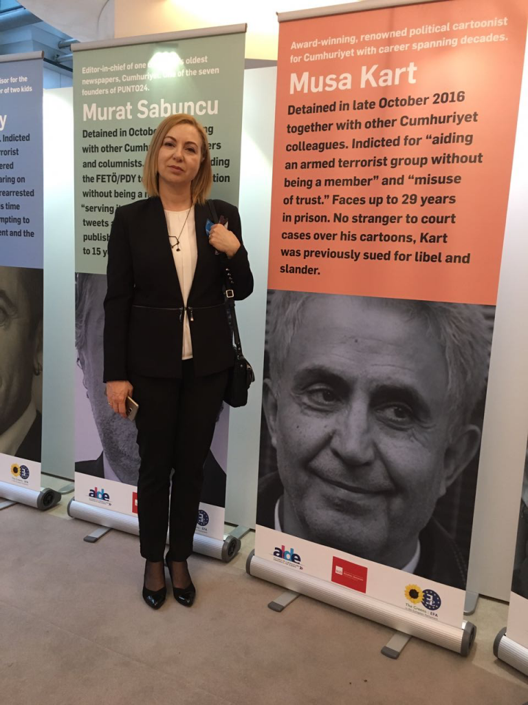 Sevinç Kart Speaks at European Parliament for Imprisoned Turkish Journalists