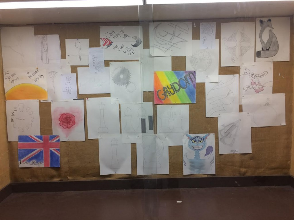 Tennessee High School Removes Student's Rainbow Artwork from Classroom Display