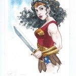 Jill Thompson: Wonder Woman painting