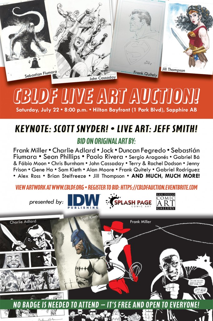 SDCC 2017: Saturday with CBLDF – It's Auction Time!