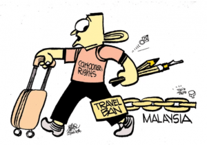 Zunar Asks Top Malaysian Court to Rule on Freedom to Travel