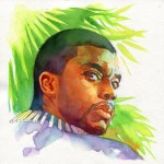 Brian Stelfreeze: Chadwick Boseman as Black Panther painting