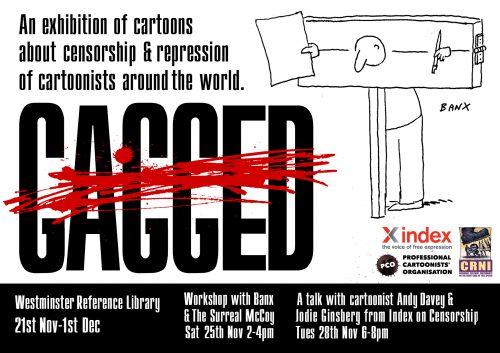 London Exhibit to Feature Censored Cartoonists