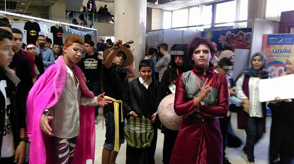 Libya Comic Con cosplayers