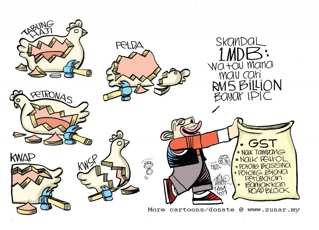 Zunar chicken cartoon
