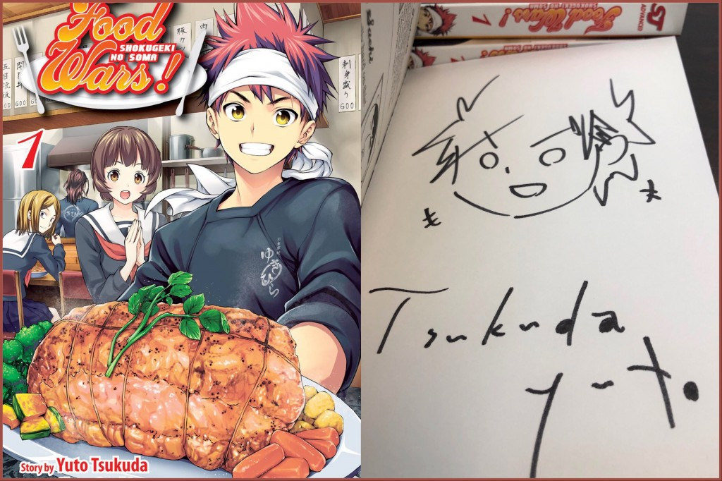 Food Wars Manga Cover and Signature page