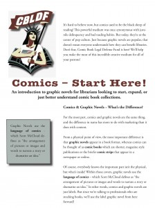 CBLDF Debuts Comics – Start Here! At ALA in New Orleans