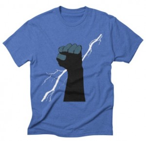 Threadless Blue Fist