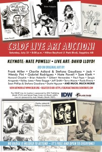SDCC 2018 – CBLDF Live Art Auction, Presented by IDW Publishing and Splash Page Comic Art