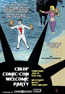Kick-off Comic-Con Right at CBLDF's Welcome Party!