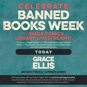 Moonstruck & Lumberjanes Author, Grace Ellis, Tonight through Library Livestream!