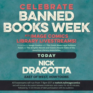 Don't Miss Tonight's Library Livestream with East of West Artist, Nick Dragotta