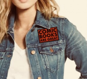 Comic Books Are Great Patch on Jean Jacket