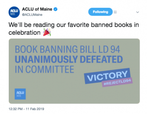 Proposed Book Banning Law Defeated in Maine