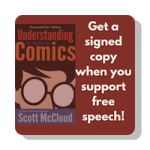 Understanding comics button