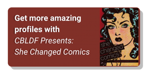 She Changed Comics Graphic button