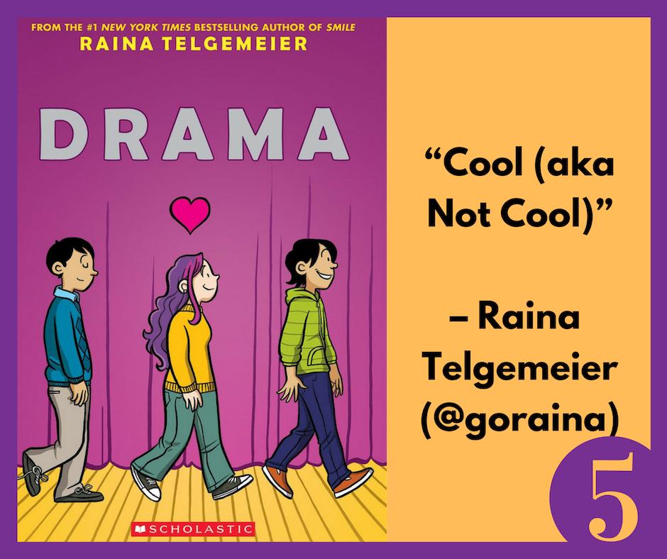 Raina Telgemeier Tweets about Drama