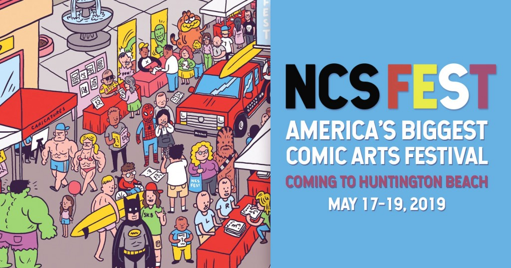 NCS FEST, Comics convention Huntington Beach California May 2019
