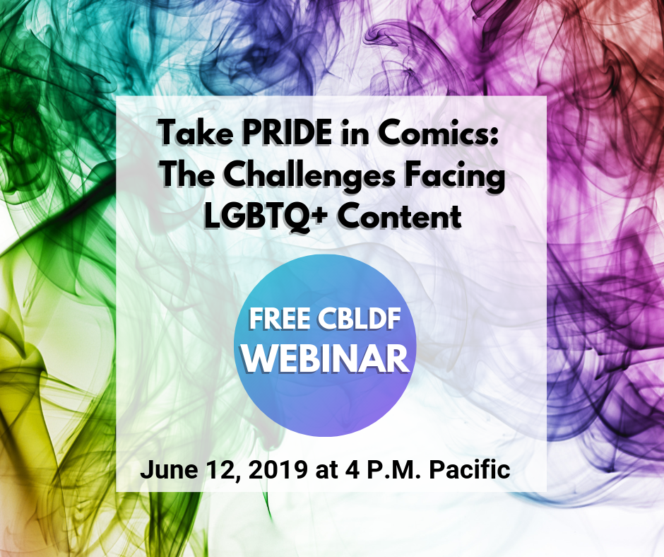 Just Announced! Take PRIDE in Comics: The Challenges Facing LGBTQ+ Content