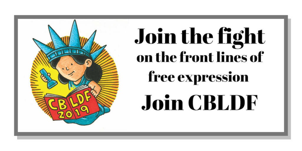 Join the fight on the front lines of free expression! Become a CBLDF member today! (1)