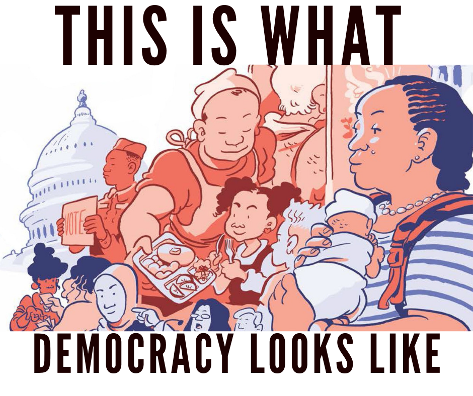 Ask Your Local Comics Shop for This is What Democracy Looks Like Today!