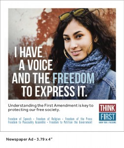 Think First Campaign Tries to Demystify First Amendment