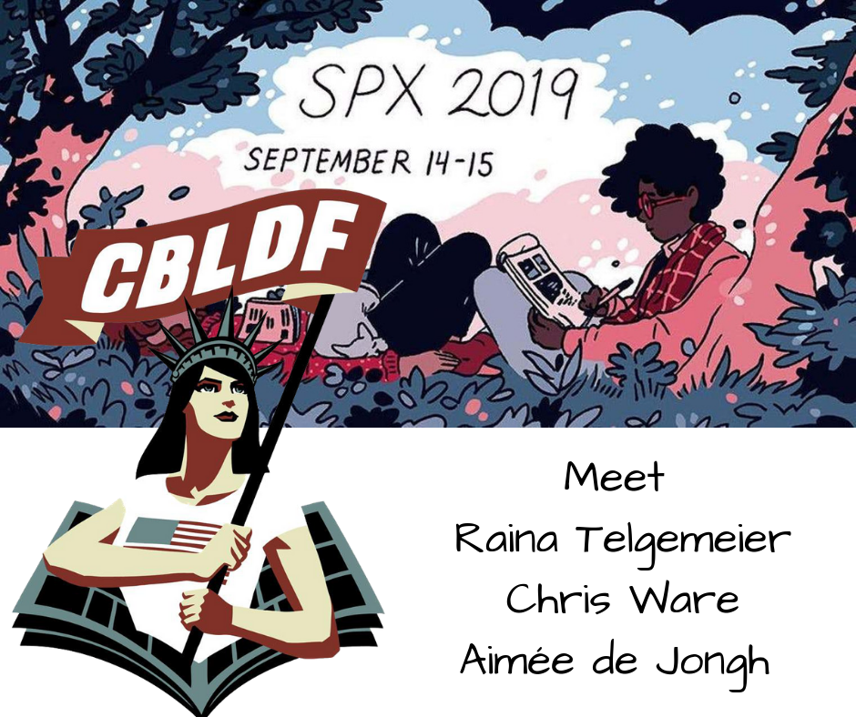 Don't Miss CBLDF at SPX this Weekend! With Raina Telgemeier, Chris Ware, and More!