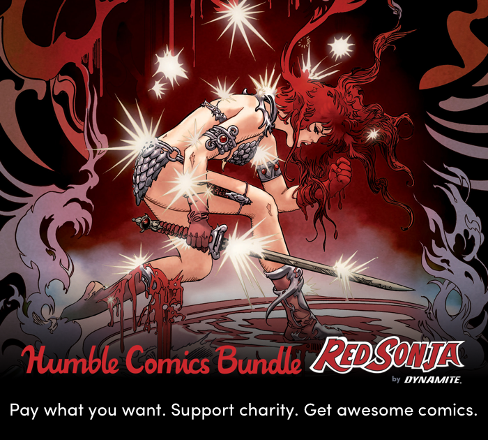 Just Announced! Dynamite Red Sonja Humble Bundle Supports CBLDF!