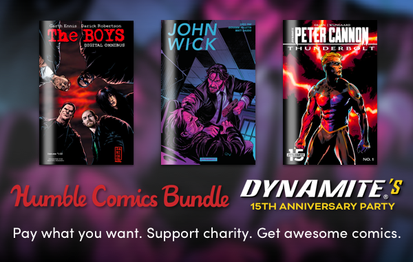 JUST ANNOUNCED! Support CBLDF with the Dynamite's 15th Anniversary Humble Bundle!
