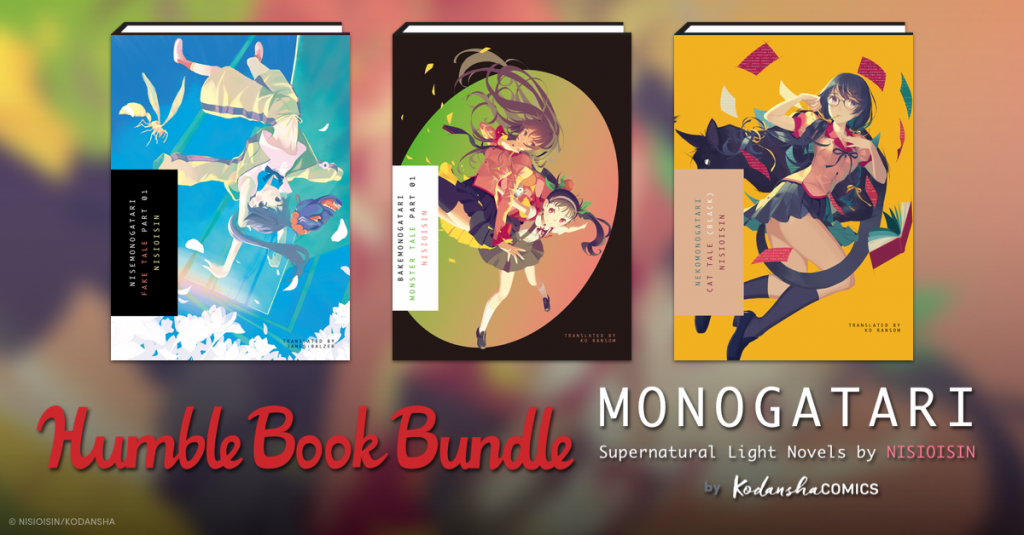 Support Free Expression with MONOGATARI Supernatural Light Novels by NISIOSIN