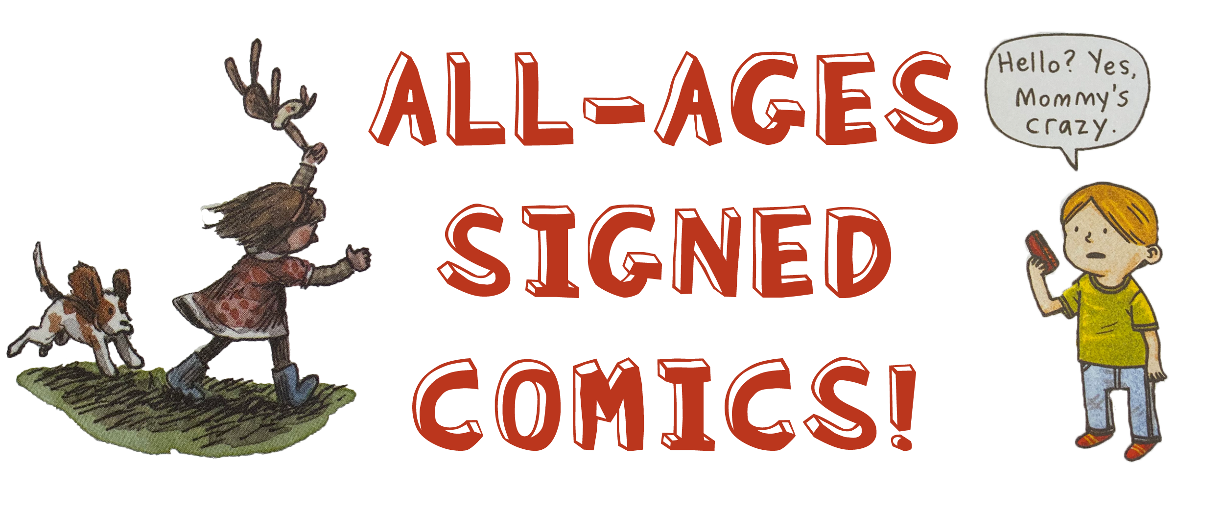 All-Ages GNs Signed by Jeffrey Brown, Liniers, & More Benefit CBLDF!