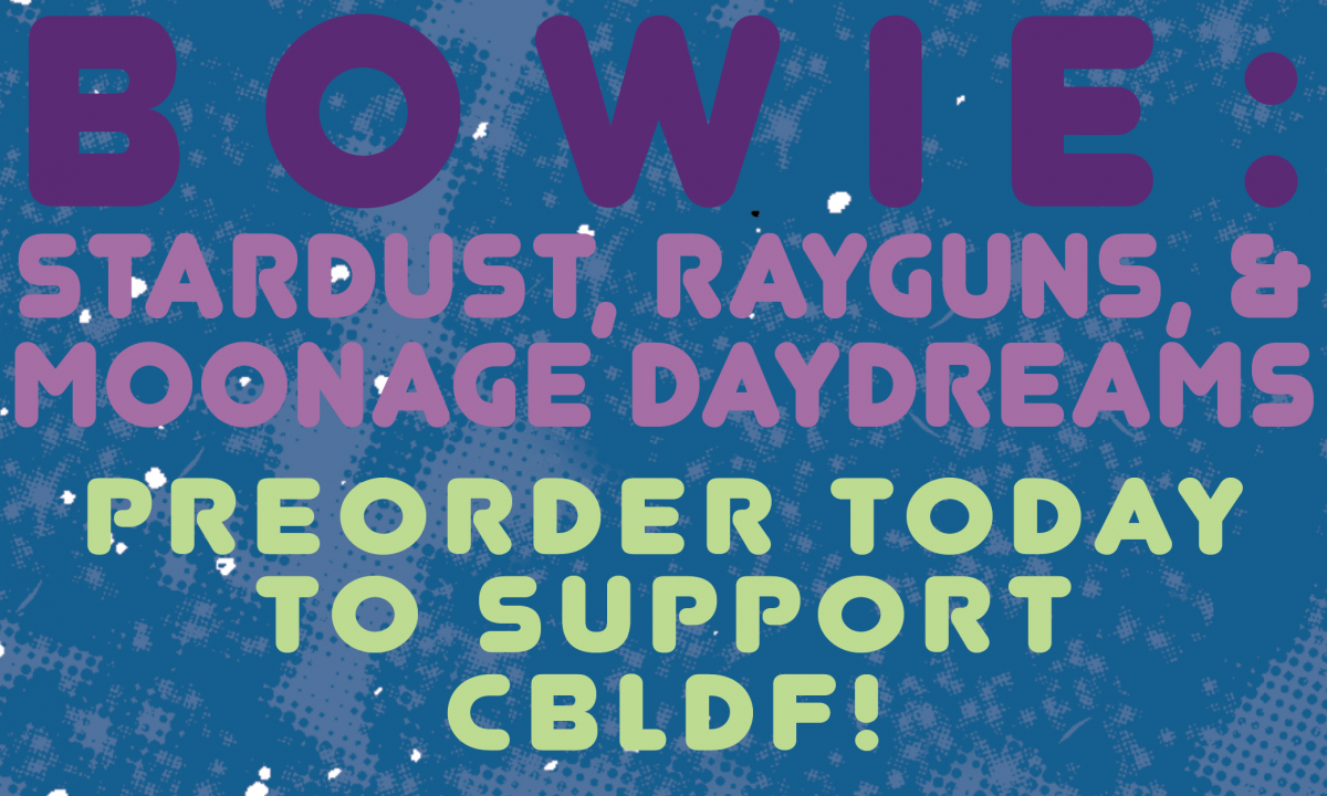 Mike & Laura Allred Sign Exclusive CBLDF Tip-Ins for Bowie: Stardust, Rayguns, & Moonage Daydreams HC!