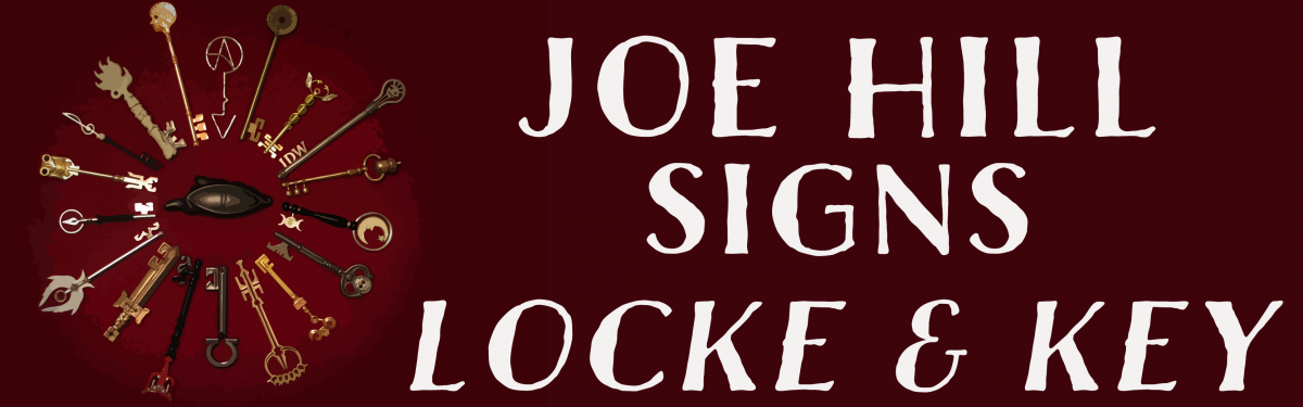 Joe Hill Signs Locke & Key HCs to Support CBLDF!