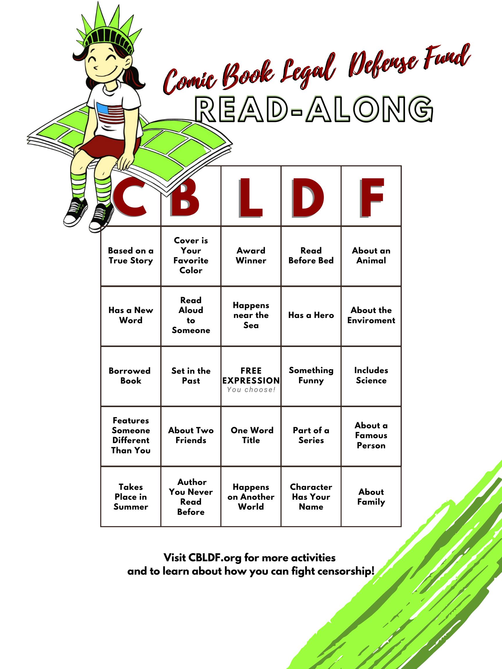 CBLDF Bingo Kid Card