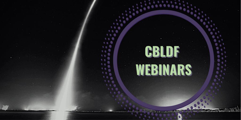 Banner CBLDF Webinars