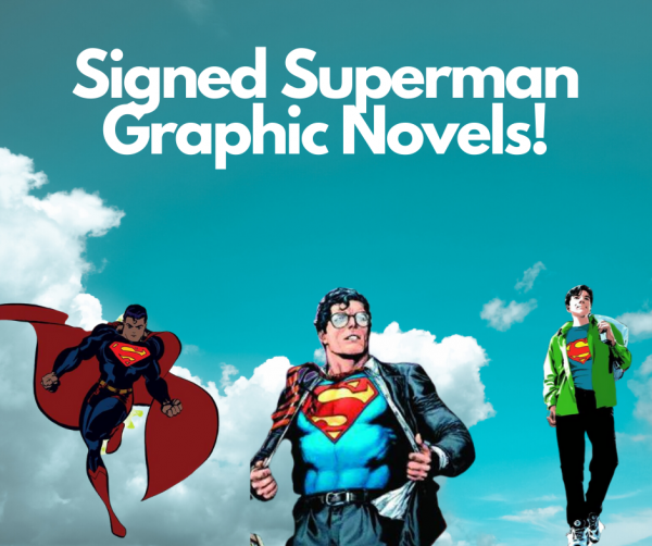 Superman Graphic Novels Signed by Geoff Johns, Tim Sale, and Stuart Immonen Benefit CBLDF