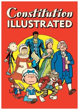 Cover of the book featuring various comics creations in period attire.